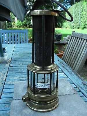 £195 • Buy Miners Safety Lamp, Clanny Type, Joseph Cooke 1874