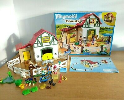 £24.99 • Buy Playmobil Pony Farm 6927 - House/Horse/City Life/Country - Almost Complete
