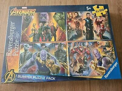 £5.49 • Buy Marvel Avenger Infinity War Bumper Puzzle Pack 4 X 100 Jigsaw Puzzles Brand New