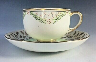 £19.95 • Buy Vintage PARAGON Green & Gilt Decorated Fine Bone China Cabinet Tea Cup & Saucer
