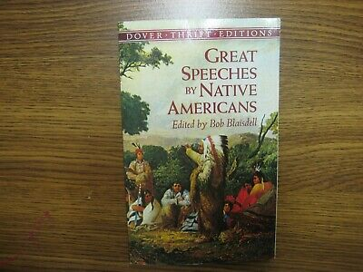 AU11.11 • Buy Great Speeches By Native Americans Bob Blaisdell Dover Thrift Editions Book TPB
