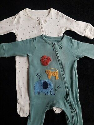 £1.30 • Buy Baby Boy 0-3 Months Sleepsuits / M&S