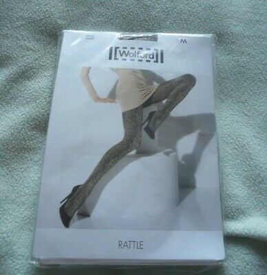£7.95 • Buy Wolford  Rattle  Snakeskin Pattern Opaque 80 Tights Medium