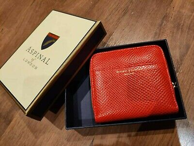 £35.50 • Buy ASPINAL OF LONDON Red Leather Purse/Wallet With Box. New (without Tag)