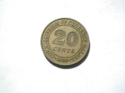 £0.99 • Buy Early - George V1- 20 Cent Coin From British Malaya-dated 1950-nice