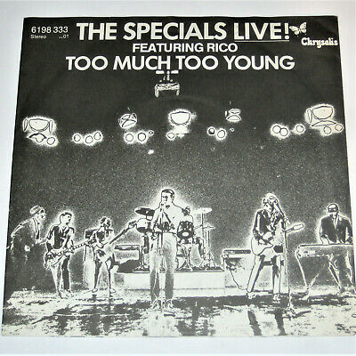 £29.99 • Buy THE SPECIALS Too Much Too Young 7  German 45 2 Tone Two Unique PS RARE Ska LIVE