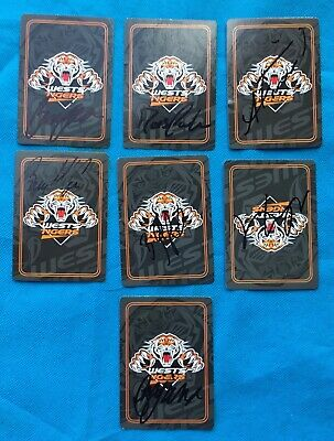 AU9.99 • Buy Tigers Rugby League Playing Cards Hand Signed Players Signature Cards X 7 Lot 2
