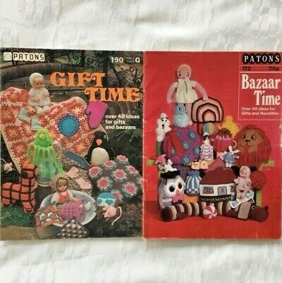 £2.30 • Buy Patons Gift Time 190 & Bazaar Time 172 Knitting & Crochet  Patterns 80 Ideas