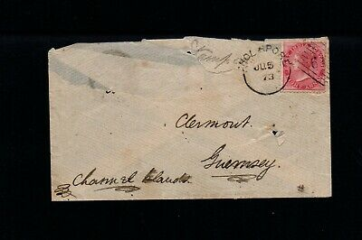 £0.99 • Buy Guernsey - Incoming From Bombay, B Code Single Ring On Back 1873
