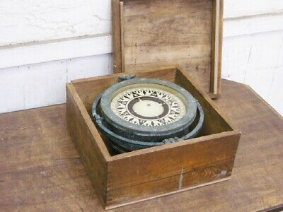 £411.70 • Buy Maritime Compasses Japanese Ship Compass With Wooden Box Retro Antique G3443