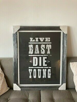 £150 • Buy Pure Evil Limited Edition  Live East Die Young  Print: Signed & Framed