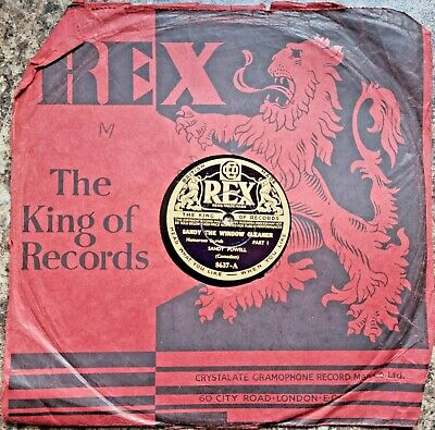 £6.95 • Buy Sandy Powell - Sandy The Window Cleaner 10  Shellac Record 78RPM 1935 REX 8637