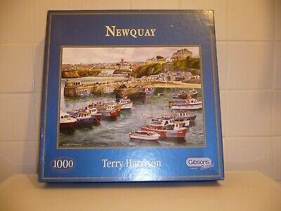 £4.49 • Buy Gibsons 1000 Piece Jigsaw Puzzle 'Newquay' Terry Harrison Pre-Loved Complete