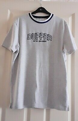 £4.99 • Buy Mens Grey Duffer Of St George T Shirt  Size Large