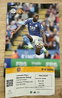 £3 • Buy Leicester City V Manchester United Premier League 16.10.21 + Away Ticket