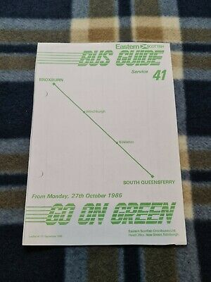 £2 • Buy Eastern Scottish Bus Timetable – Service 41 – October 1986
