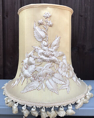£25 • Buy Original Vintage Antique Downtown Abbey Tassle Fringe Lampshade Hand Embroidery