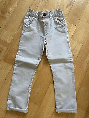 £2.50 • Buy Next Boys Stone Coloured Chino Trousers Age 5-6