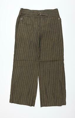 £8 • Buy NEXT Womens Green Striped  Trousers  Size 14 L31 In