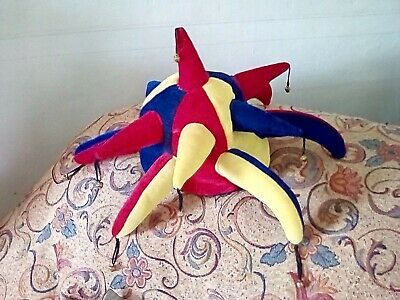£1.50 • Buy Red, Blue & Yellow Jester Hat With Bells, Unused, Great Condition