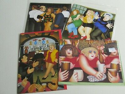£2.99 • Buy 4 X Beryl Cook Cards (Gallery Five) - 2 New & Sealed + 2 Others Unused