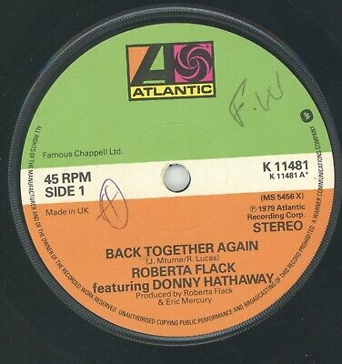 £4.95 • Buy   BACK TOGETHER AGAIN.   Roberta Flack Feat: Donny Hathaway. ATLANTIC 7in 1979.