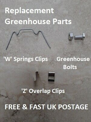 £2.80 • Buy GREENHOUSE Clips & Bolts - Replacement Repair - Choose Type & Qty - SPARE PARTS