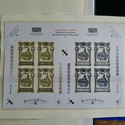 View Details Discworld Stamps 2007 Guild Of Thieves, Burglars.... Double Proof Sheet. • 5.99£