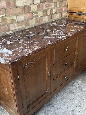 £99 • Buy Beautiful French Marble Top Sideboard Needs TLC