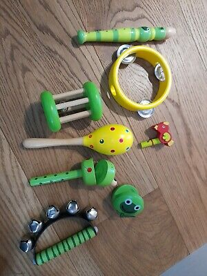 £3.50 • Buy Bundle Of 8 Wooden Childrens Toy Musical Instruments