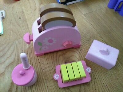 £5 • Buy ELC Wooden Pink Toaster Butter Jam Playset Toy Kitchen