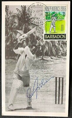 AU42.95 • Buy West Indies Cricket Legend Sir Garry Sobers Signed 1966 Independence First Card