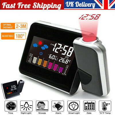 £7 • Buy LED Smart Digital Alarm Clock Projection Temperature Projector LCD Display Time
