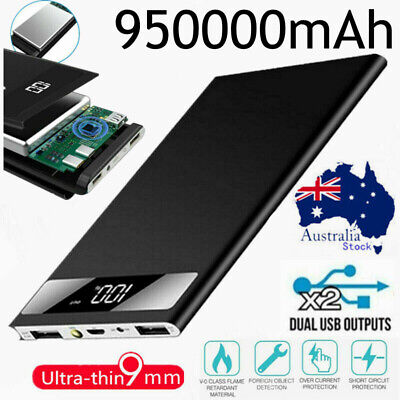 AU6.99 • Buy Power Bank 950000mAh 2USB Fast Charge External Battery Pack Portable Charger LED