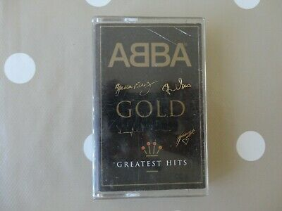 £4 • Buy Abba Gold Greatest Hits Cassette Tape Signature Style Etched Case