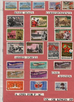 £1.99 • Buy 1960-70s Russia Sets Of Fu Stamps Mounted On Red Paper.