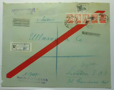 £0.99 • Buy USSR (Russia) Registered Cover State Bank USSR - Riga To London C.1940s