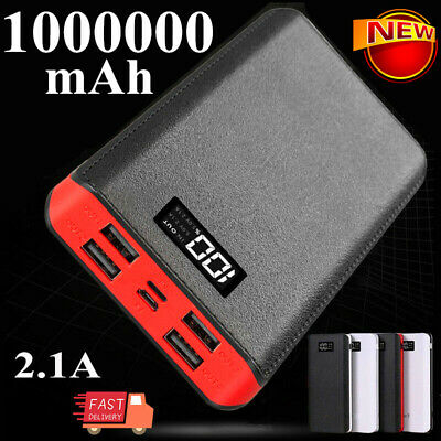 AU6.99 • Buy 1000000mAh Portable Power Bank LED 4 USB Fast Battery Pack Charger For Phone AUS