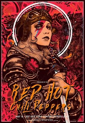 $45 • Buy The Red Hot Chili Peppers 2017 Concert Poster RARE