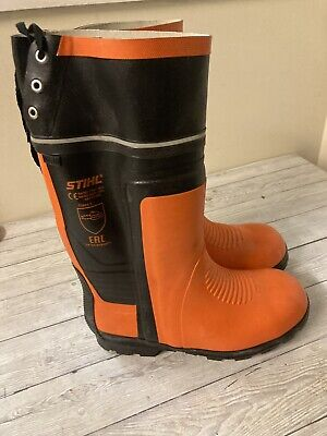 £59 • Buy New Boxed Stihl Chainsaw Special Rubber Wellington Boots Size 10.5 Only