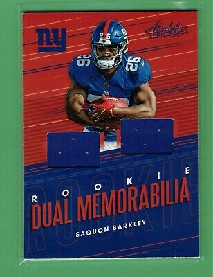 AU1.32 • Buy 2018 Panini Absolute Saquon Barkley Dual Jersey Relic Rookie Rc Giants