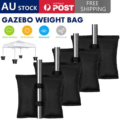 AU23.19 • Buy 4 PACK Garden Gazebo Foot Leg Feet Weights Sand Bags For Marquee Party Tent AUS