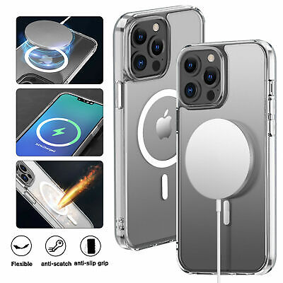 AU12.49 • Buy MagSafe Magnetic Clear Case For Apple IPhone 13 12 Pro Max 11 Pro Max Slim Cover