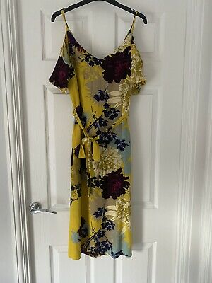 £3.50 • Buy Womens New Look Yellow Floral Dress - Ladies Size 10
