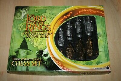 £19.99 • Buy Lord Of The Rings The Fellowship Of The Ring Pewter & Bronze Effect Chess Set