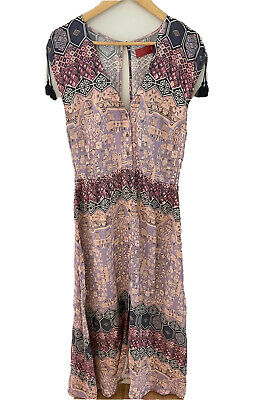 AU65 • Buy Tigerlily Maxi Dress Size 14 Short Sleeve Pink And Purple Gorgeous 🥰
