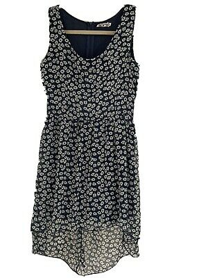 £1.99 • Buy BNWOT, Ladies Blue & White Floral Sleeveless Dress, Lined, Wal G, Size S (8-10)