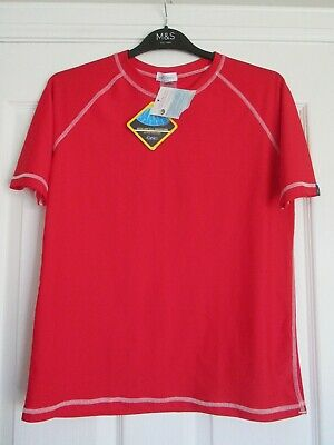 £6.99 • Buy BNWT LION IN THE SUN Red UPF50+ PROTECTION Short Sleeve Top, Age 13-14 Years