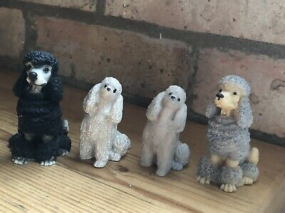 £12.50 • Buy 4x Vintage Gorgeous Poodle Figurines Collectable Figurines/Dog Ornaments