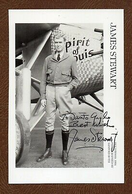 £54.02 • Buy JAMES 'JIMMY' STEWART Hollywood Great SIGNED CHARLES LINDBERG Picture Postcard